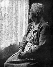 Elderly woman B&W