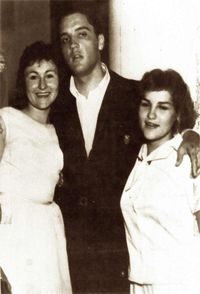 Elvis with Eliza's mother and aunt