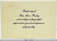 Elvis funeral card