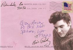 Elvis pink envelope 2
