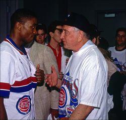 Bill Davidson with Isiah Thomas