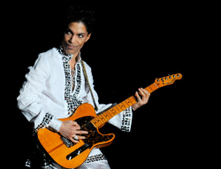Prince peforming